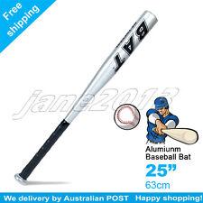 "Silver-Brand New 25"" 63cm Aluminium Baseball Bat Racket Softball Outdoor Sports"