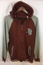 DC Women's Large Full Zip Hoodie Spell Out Logo Skateboard Snowboard