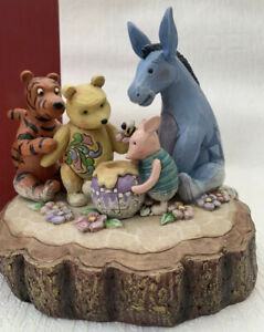 """Disney Tradition Winnie The Pooh Carved By Heart """"You Me And A Honey Bee"""""""