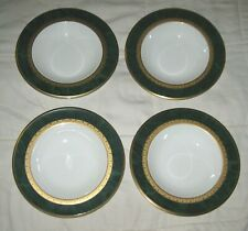 4 Noritake Fitzgerald Bone China Rim Soup Bowls