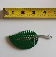 """4"""" Green Leaf Stainless Steel Folding Pocket Keychain Knife Sharp Compact"""
