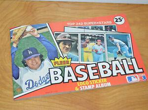 Vintage 1982 FLEER BASEBALL Logo Sticker & Stamp Album MLB Baseball Book Retro