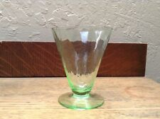 Vtg Green Funnel Shape Drink Glass