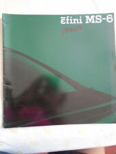 Mazda Efini MS-6 brochure 1991 Japanese text large format