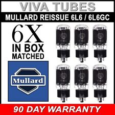 Brand New Mullard Reissue 6L6GC 6L6 Current Matched Sextet (6) Vacuum Tubes