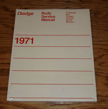 1971 Dodge Body Service Shop Manual 71 Challenger Charger Dart Coronet