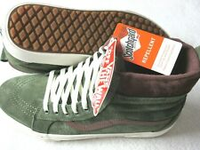 Vans Womens Sk8-Hi MTE Deep Lichen Green Root Beer Brown Skate shoes Size 8.5