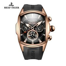 Reef Tiger RGA3069 Luxury Tourbillon Automatic Aurora Tank II Steel Men's Watch