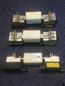 Lot of 3 Bussman 1BS102 Modular Blocks and 170M3144 200a 1250v 1300v Square Fuse