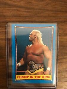 WWF Hulk Hogan Champ 1987 Wrestling Trading Card