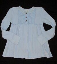 Naartjie Kids 8 XXL Top Knit Shirt Periwinkle Lavender Babydoll Girl Henley Blue