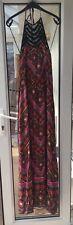 NEW LOOK Aztec Print Halterneck Maxi Dress Size 8