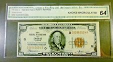 1929 $100 Fr. 1890-G Federal Reserve Bank Of CHICAGO National Bank Note CU 64