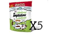 WHISKAS Temptations Cat Treats - ALL NATURAL TUNA 160g X 5 Package Canadian