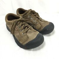 Keen Women's 6 Brown Black Suede Leather Lace Up Oxford Hiking Shoes