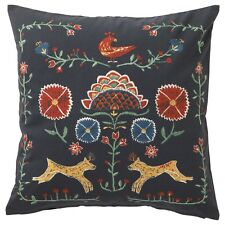 "SET of 2 - Ikea RENREPE Pillow Cushion Cover 20"" x 20"" Nordic Folk Print - NEW"