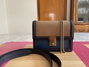 NWT Coach 884 Hutton Belt Bag/Cross body In Colorblock Leather Lake Multi $250