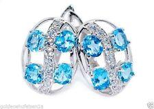 Echte Omegaverschluss Ohrschmuck im Ohrstecker-Stil aus Sterlingsilber für Damen