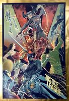 DC: Justice League Movie Print by Artist Rich Kelly from Bottleneck Comic Poster