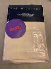 Ralph Lauren Marylebone Elton EURO European Pillow Sham Solid Linen Sand $185