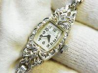 Hamilton Vintage Lady Hamilton Diamond 14k White Gold watch