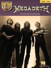 HAL LEONARD 701741 Megadeth Guitar Play-A-Long Book w/ CD, Vol. 129