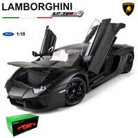 1:18 LAMBORGHINI AVENTADOR LP700-4 MATTE BLACK FX Model DIECAST CAR MODEL WELLY