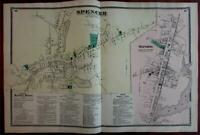 Spencer Oxford 1870 Worcester Co. Mass. detailed map