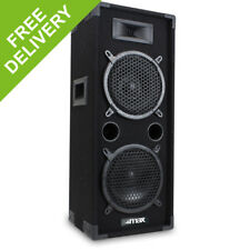 "Max 2 x 8"" Inch Passive Speaker Bedroom DJ Home Audio Hi-fi Disco Party 800W"