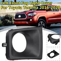 Front Left Fog Light Lamp Frame Covers Trim For Toyota Tacoma 2016-2020 Black