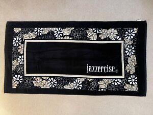 "JAZZERCISE BEACH TOWEL BLACK FLORAL 59 ""x 30"""