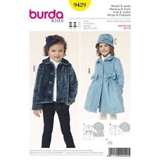 Burda Kids SEWING PATTERN 9429 Toddlers/Girls Coat, Jacket,Hat Age 2-8