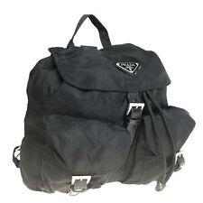 PRADA nylon backpack black used 1258-11Z90