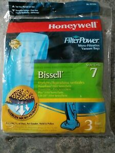 1pk 3 Bags Honeywell H21298 Allergen Micro-Filtration for Bissell Uprights 7