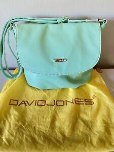 David Jones Duck Egg Blue Shoulder Handbag New