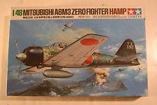 "Japan Mitsubishi A6M3 ""Hamp"", 1/48 Tamiya kit 61025, 1982, Airplane Model Kit"