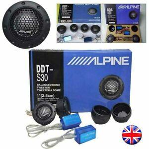 "Alpine Ddt-s30 25mm 1"" 360w Dome Balanced Car Speakers Tweeters Crossovers UK!!"