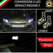 LUCI POSIZIONE A LED + LUCI TARGA A LED CANBUS RENAULT MEGANE 3 NO ERROR