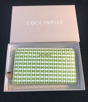BNIB COCCINELLE Ladies' Large Green Pattern Leather Wallet Gift Idea (Gift Bag)
