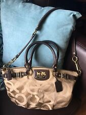 Authentic Coach Madison Sophia Op Art Signature Satchel   #18650