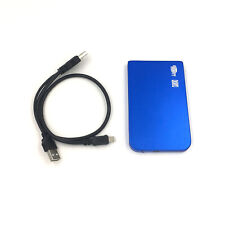 "New 500GB External Portable 2.5"" USB Hard Drive With Warranty Free Pouch Blue"