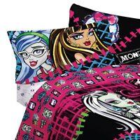MONSTER HIGH BED SHEET SET Frankie Stein Draculaura Ghouls Allowed Bedding