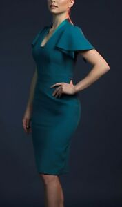 Brand new without the tags designer dress teal colour size 8