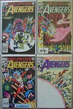 Avengers #230-233 Marvel Comics (4) Comic Run 1982 Avg VF+ Hawkeye Thor Vision +