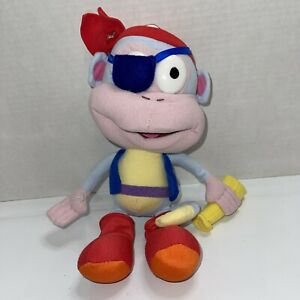 "Dora The Explorer 2008 Viacom 10""  Pirate Boots Stuffed Plush Toy Monkey"
