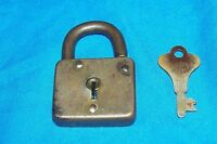Antique Corbin Padlock Lock Old Vintage Brass Cabinet Collectors Collectible 2""