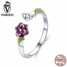 Voroco New 925 Sterling Silver Birds Ring Charm Beauty luxury for Women Jewelry