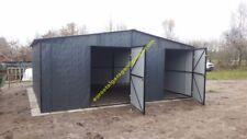 Blechgarage 5x7 Blechhalle RAL7016 Schuppe Lager Fertiggarage 4Kantprofil NEU