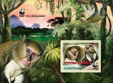 More details for guinea-bissau 2020 mnh wwf stamps campbell's mona monkeys red ovpt 1v s/s