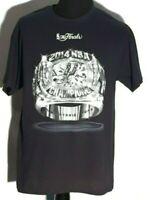 San Antonio Spurs 2014 NBA Basketball Champions Team Roster Ring Large T-shirt